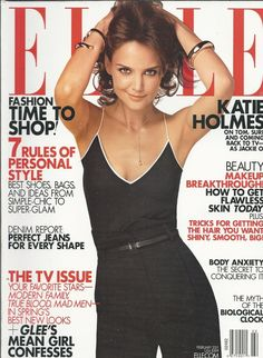Elle magazine Katie Holmes Personal style Beauty and makeup The TV issue Fashion | eBay