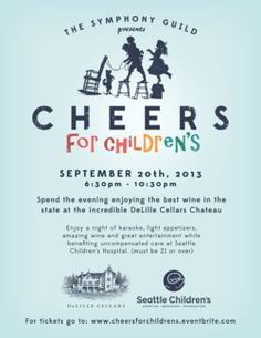 "I just signed up on the ""Volunteers needed for our Cheers for Children's event at DeLille Cellars"" page for Registration."