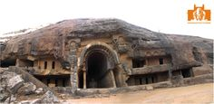 The Bhaja Caves share architectural design with the Karla Caves. The most impressive monument is the large shrine — chaityagriha — with an open, horseshoe-arched entrance