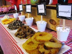 Build Your Own Burger Bar ~ Gourmet Burger Toppings: Grilled Pineapple, Mushrooms, Cheeses, Guacamole, etc...