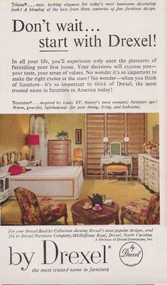 Another Vintage Ad For Our Bedroom Set.