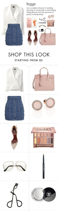 """""""Unbenannt #570"""" by angelinaballerinaitsmarina ❤ liked on Polyvore featuring Giorgio Armani, Yves Saint Laurent, Balmain, Michael Kors, Urban Decay, Dolce&Gabbana, Topshop and Chanel"""