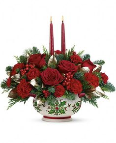 Teleflora's Gifts Of The Season Centerpiece Flowers