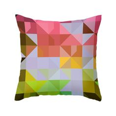 Dot & Bo Kaleidoscope Pillow in Citrus (42 AUD) ❤ liked on Polyvore featuring home, home decor, throw pillows and graphic throw pillows