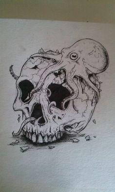 Octopus Skull by DraggingBalls on DeviantArt