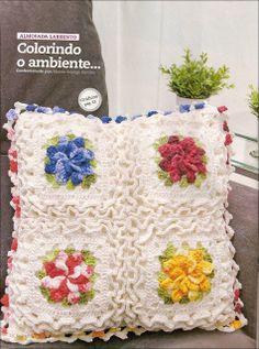 Almofadas de croche floral