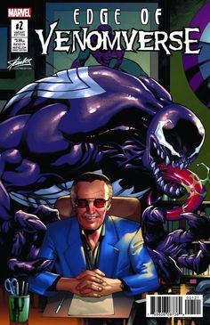 Edge of Venomverse #2 (2017) Stan Lee Collectibles SDCC 2017 Exclusive Variant Cover Chris Stevens