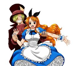 Render One Piece - Renders Sanji Nami 2 ans plus tard deux Two years later Alice Chapelier fou
