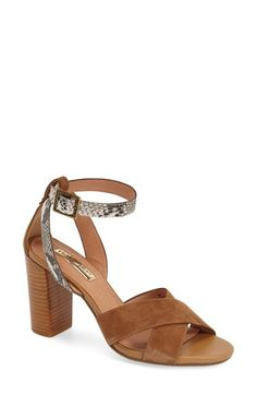 Free shipping and returns on Halogen® 'Haley' Crisscross Strap Sandal (Women) at Nordstrom.com. A trend-right sandal features crisscrossed straps and snake-embosseddetailing while a tall, woodgrain stacked heel completes the ultra-versatile look.