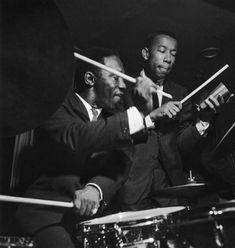 Art Blakey and Lee Morgan by Francis Wolff Jazz Artists, Jazz Musicians, Music Artists, Francis Wolff, A Love Supreme, Hard Bop, Free Jazz, Miles Davis, Jazz Blues
