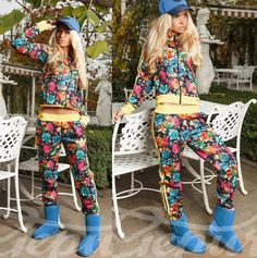 #Stylish #floral #tracksuit #adidas Women's tracksuit. Floral print, effect looks. Cute and comfy