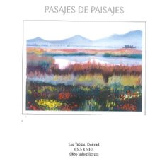 """Pasajes de paisajes"" exposición de Maite Sáez en Caja Castilla-La Mancha Abril/Mayo 2005 #CajaCastillaMancha #Cuenca #MaiteSaez"