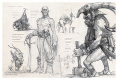 ArtStation - Page of my second sketch Book published by : Au bord des Continents, Jean-Baptiste Monge