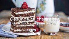 Gesunde Milchschnitte ohne Milch - veganes Rezept Tiramisu, Baking, Ethnic Recipes, Party, Fett, Youtube, Blog, Inspiration, Vegan Chocolate