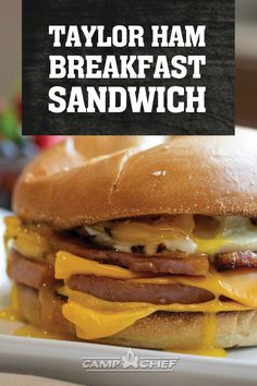 New Jersey - The pork roll is the answer to the perfect breakfast sandwich to kick off your day. Whether you call it pork roll or Taylor Ham, you love this sandwich! Ham Breakfast, Perfect Breakfast, Breakfast Recipes, Dinner Recipes, Breakfast Sandwiches, Breakfast Ideas, Taylor Pork Roll, Ham Sandwich Recipes, Spam Recipes
