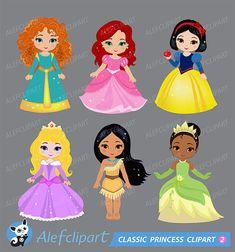 Imágenes Prediseñadas princesa princesa clásico por Alefclipart