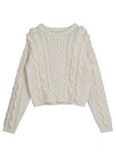 CHOiES offers the latest trends jumpers in high street fashion. Shop jumpers, cardigans & sweaters for women with CHOiES. Cardigan Sweaters For Women, Cable Knit Sweaters, White Sweaters, Cropped Sweater, Cardigans For Women, Sweater Cardigan, Long Sleeve Crop Top, White Long Sleeve, Crop Shirt