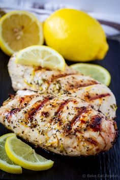 This Greek chicken marinade is easy to mix up and adds so much flavour to your chicken. Marinate and then grill or bake, or freeze for later! Chicken Souvlaki Marinade, Greek Chicken Souvlaki, Greek Marinated Chicken, Baked Greek Chicken, Chicken Marinade Recipes, Chicken Marinades, Greek Style Chicken, Clean Eating Chicken, Mediterranean Recipes