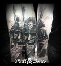 Samurai #samurai #samuraitattoo #blackandgrey #skullnbones #skullnbonestattoo
