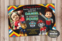 Paw Patrol Birthday Invitation Printable by CindysEventCreations
