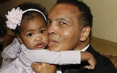 The 1-year-old(Sydney) munchkin is seen here with her grandfather, boxing legend Muhammad Ali. He's showing her some love and definitely, this picture is oozing cuteness. Don't you agree?