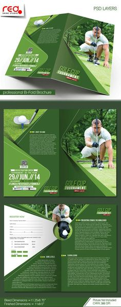 Charity Golf Tournament Brochure Template Brochure template - golf tournament brochure