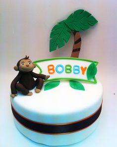 Monkey Cake Topper Package, Edible Palm Tree