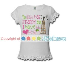 Oil Field themed Fathers day shirt