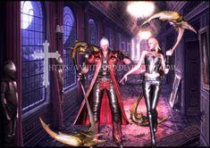 Dante and Trish as Shinigami by VVhiteLord Capcom, Hideki Kamiya, Hideaki Itsuno, デビルメイクライ DMC レディ デビルハンター  Dante Trish ダンテ トリッシュ