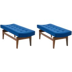 1stdibs.com | Pair of Four Foot Floating Benches By Jens Risom