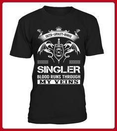 SINGLER Blood Runs Through My Veins - Shirts für singles (*Partner-Link)