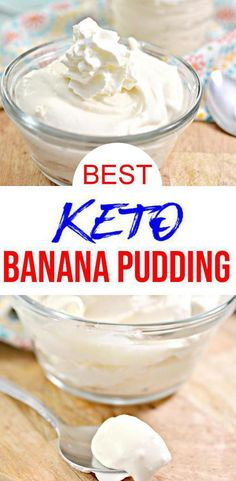 Super yummy 5 ingredient keto banana pudding you can't stop eating! Yes, low carb banana pudding recipe that you can eat on a ketogenic diet. Creamy low carb pudding that is simple and quick to mix up. Quick Easy Desserts, Quick Snacks, Easy Food To Make, Low Carb Desserts, Keto Snacks, Low Carb Recipes, Dessert Recipes, Easy 5, Keto Pudding