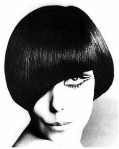 Peggy Moffitt modelling a classic Vidal Sassoon cut.