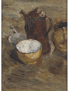 Ronald Ossory Dunlop – Still life with coffee pot; Oil on board, 31.7x23.5 cm