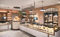 Bakery Shop Design, Shoe Store Design, Coffee Shop Interior Design, Cafe Design, Cheese Restaurant, Deco Restaurant, Restaurant Design, Cheese Store, Cheese Bar