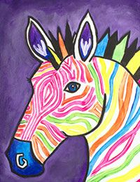 70 Ideas For Picasso Art For Kids Canvases Canvas Painting Designs, Zebra Painting, Zebra Art, Canvas Designs, Painting For Kids, Art For Kids, Painting Canvas, Canvas Paintings For Kids, Pattern Painting