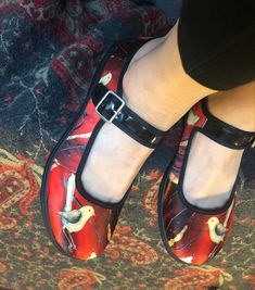 Red bird shoes!