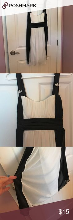 Black and white dress Black and white dress with tie in the back Deb Dresses