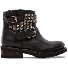 Ash Tramp Moto Boot ($237) ❤ liked on Polyvore featuring shoes, boots, botas, sapatos, chaussures, ash footwear, small heel shoes, low heel shoes, low heel boots and leather upper boots