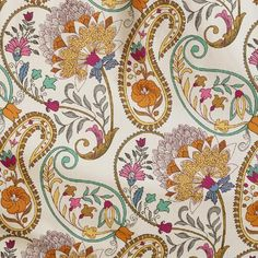 Paisley Floral Shower Curtain - i love this pattern and the colors! guest bath redo perhaps? Motif Paisley, Paisley Art, Paisley Fabric, Paisley Design, Paisley Pattern, Pattern Art, Paisley Doodle, Textile Patterns, Textile Prints