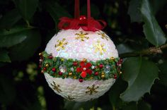 Sequin ornament sequin ball Christmas ornament