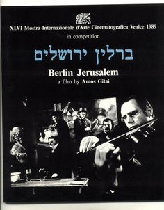 Original Berlin Jerusalem 1989 Promo Film Brochure / Cinema / Movie Hebrew set in 1930 PALESTINE, see bio below. She goes to Jerusalem and imagines a park for Arab and Jew. Her poems, voiced from within, capture her experience.