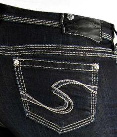New Sale Women Silver Low Distressed Pioneer Bootcut Jean Plus 14 ...