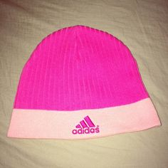 Adidas Knit Beanie 100% cotton, like new. Super cute shades of pink! Check out my other listings to bundle and save 25% 😎! Adidas Accessories Hats