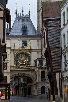 "The 14th Century ""Gros Horloge"", Rouen, Normandy, France"