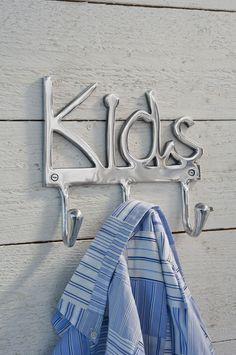 Wandgarderobe Kids (Set of Riviera Maison Kids Coat Rack, Coat Racks, Rivera Maison, Wall Mounted Coat Rack, Kids Coats, Shop Interiors, Coastal Cottage, Handmade Furniture, Home Deco