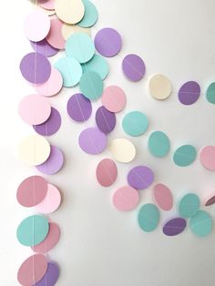 Excited to share the latest addition to my shop: Unicorn Circle Paper Garland Pastel Pink Lilac Photo Prop Garland Birthday Girl Baby Shower Cake Smash Nursery Decor Rainbow Garland Baby Shower Photo Booth, Baby Shower Photos, Baby Shower Cakes, Unicorn Baby Shower, Unicorn Party, Unicorn Birthday, Llama Birthday, Baby Shower Garland, Fiesta Party Decorations