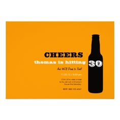 30th Birthday Invitations - Beer Cheers!