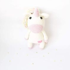 PATTERN Loreen The Unicorn amigurumi pattern crochet by deliami