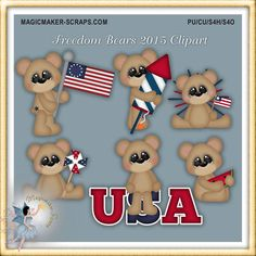 Freedom Bears 2015 Clipart